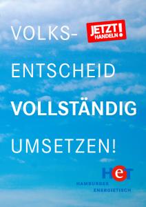 Flyer des Hamburger Energietischs - Volksentscheid vollständig umsetzen!