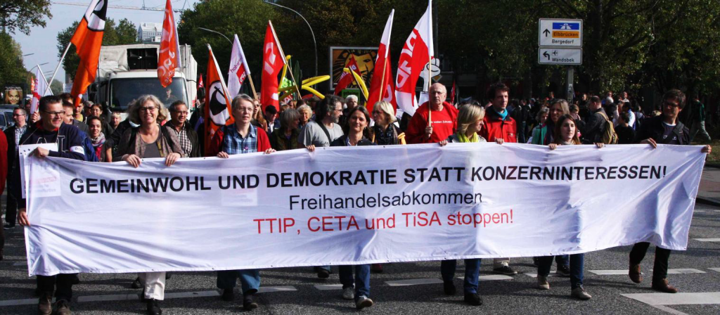 Anti-TTIP-CETA-Demonstration in Hamburg